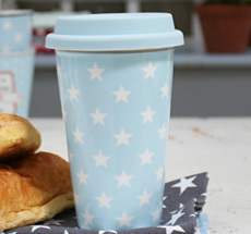 Krasilnikoff travel- to go- mug blue stars
