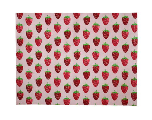 Krasilnikoff Platzset Placemat Strawberry Pink