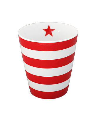 Krasilnikoff Happy Mug Stripes red