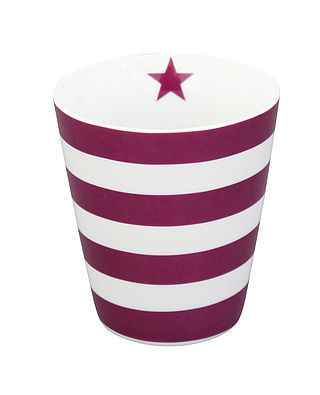 Krasilnikoff Happy Mug Stripes plum