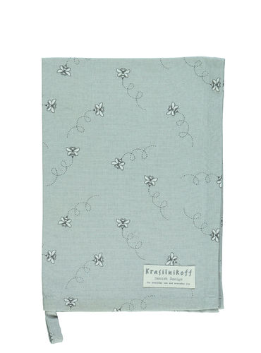 Krasilnikoff Geschirrtuch Flying Bees,grey