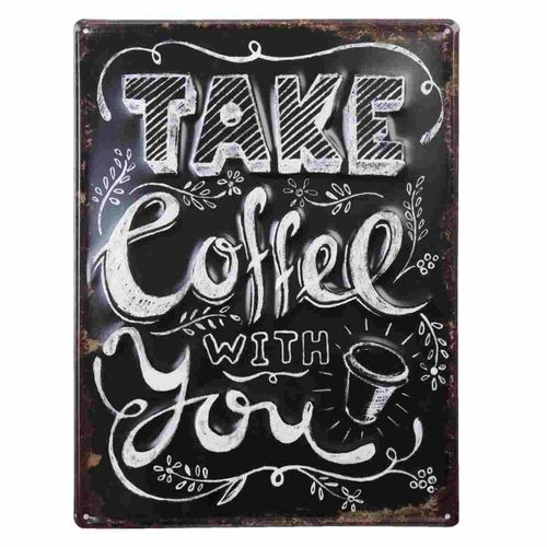Clayre&Eef Textschild Take Coffee with You