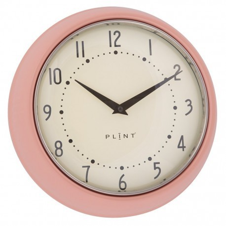 Retro Wanduhr Plint Rose