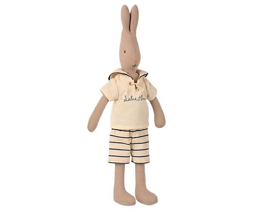 Maileg Rabbit-size2-Sailor Off white/petrol
